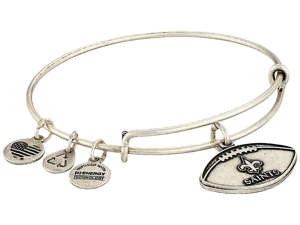 Alex and Ani - NFL New Orleans Saints Football Bangle (Rafaelian Silver) Charms Bracelet