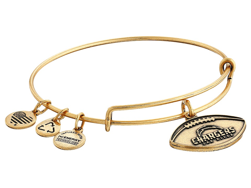 Alex and Ani - NFL San Diego Chargers Football Bangle (Rafaelian Gold) Charms Bracelet