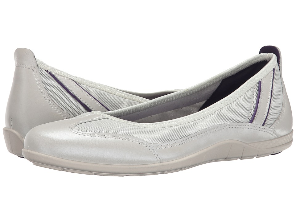 ECCO - Bluma Summer Ballerina (White/Shadow White/Crown Jewel) Women's Shoes