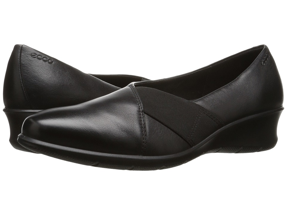 ECCO - Felicia (Black) Women's 1-2 inch heel Shoes