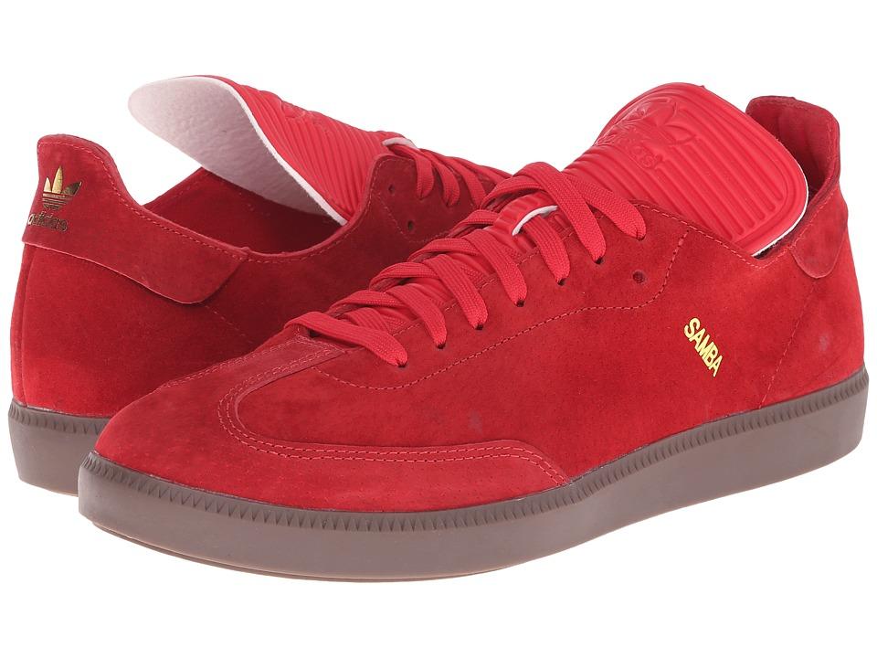 adidas Originals - Samba MC Leather (Scarlet/Scarlet/Gold Metallic) Men's Shoes