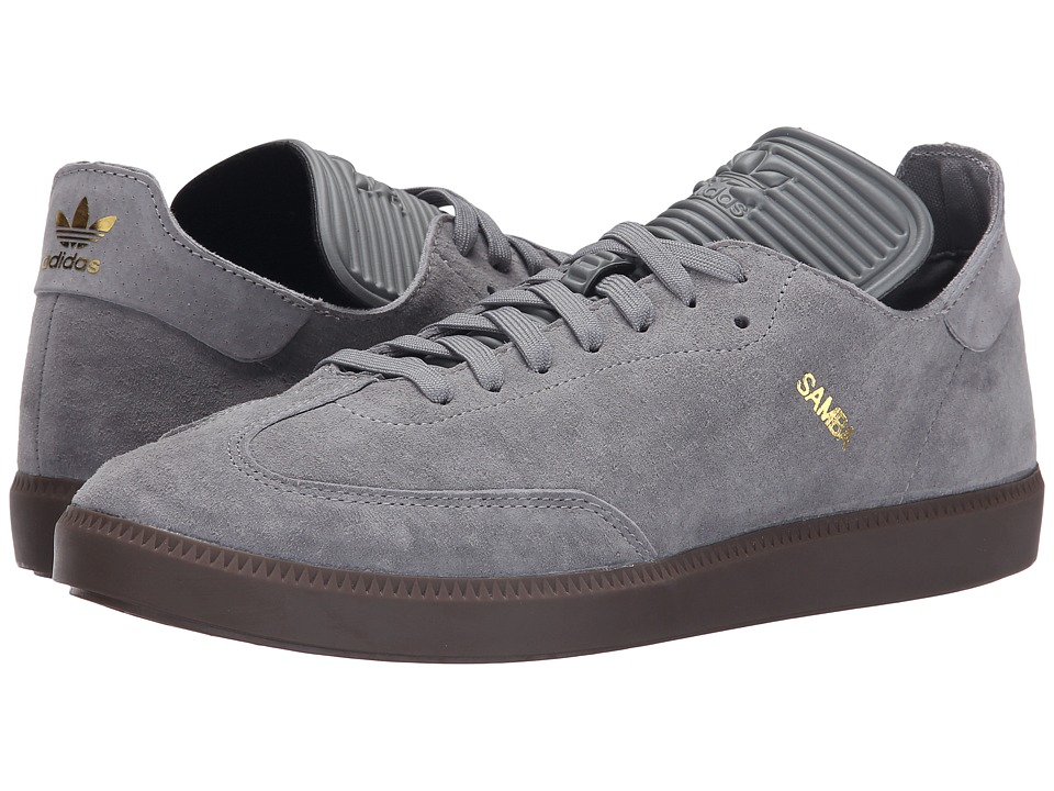 adidas Originals - Samba MC Leather (Charcoal Solid Grey/Charcoal Solid Grey/Gold Metallic) Men's Shoes
