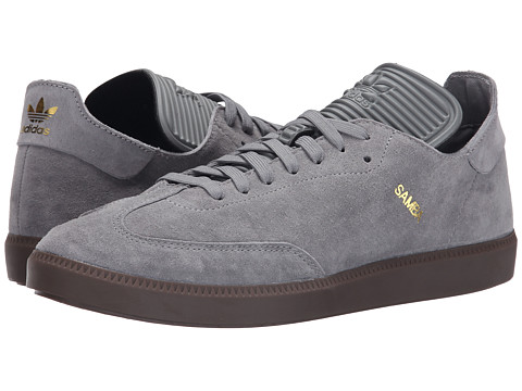 adidas Originals - Samba MC Leather (Charcoal Solid Grey/Charcoal Solid Grey/Gold Metallic) Men