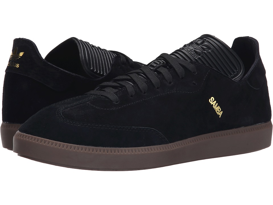 adidas Originals - Samba MC Leather (Black/Black/Gold Metallic) Men's Shoes