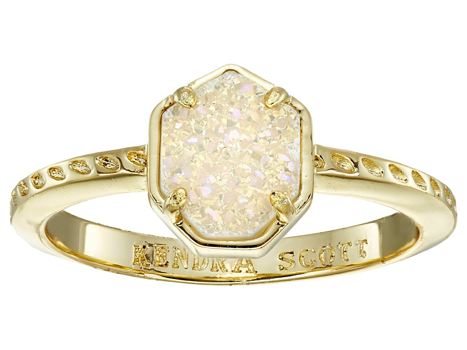 Kendra Scott - Calvin Ring (Gold Iridescent Drusy) Ring