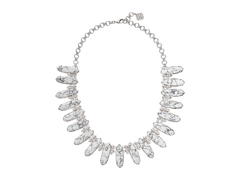 Kendra Scott - Gabriella Necklace (Rhodium White Howlite) Necklace