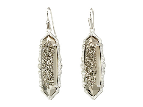 Kendra Scott - Fran Earrings (Rhodium Platinum Drusy) Earring
