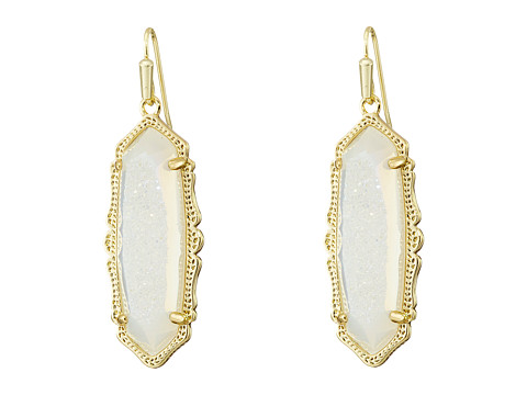 Kendra Scott - Fran Earrings (Gold Iridescent Drusy) Earring