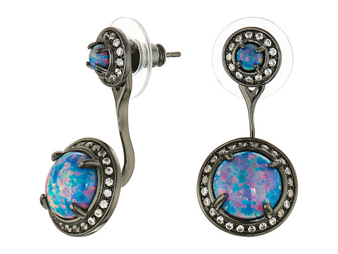 Kendra Scott - Camilla Earrings (Gunmetal Kyocera Turquoise Opal) Earring
