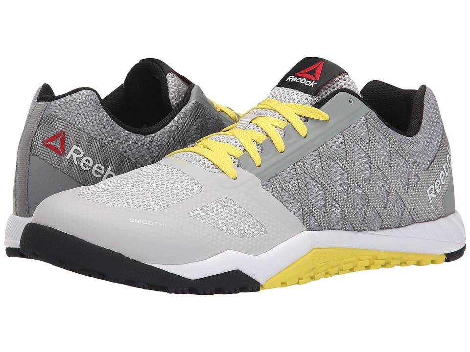 Reebok - Ros Workout TR (Flat Grey/Steel/Stinger Yellow) Men