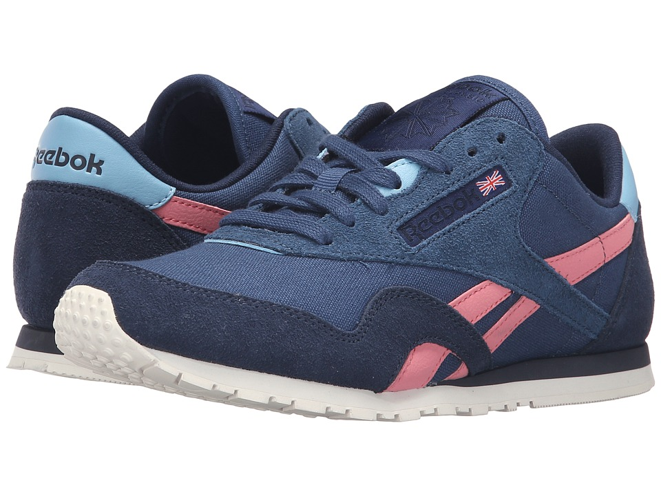 Reebok - Classic Nylon Slim Colors (Batik Blue/Faux Indigo/Poppy Pink/Sheer Blue/Chalk) Women's Classic Shoes