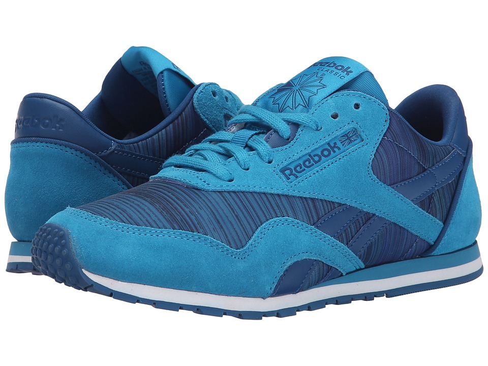 Reebok - Classic Nylon Slim Geo Graphic (Conrad Blue/Handy Blue/Faux Indigo/Instinct Blue/White) Women's Classic Shoes