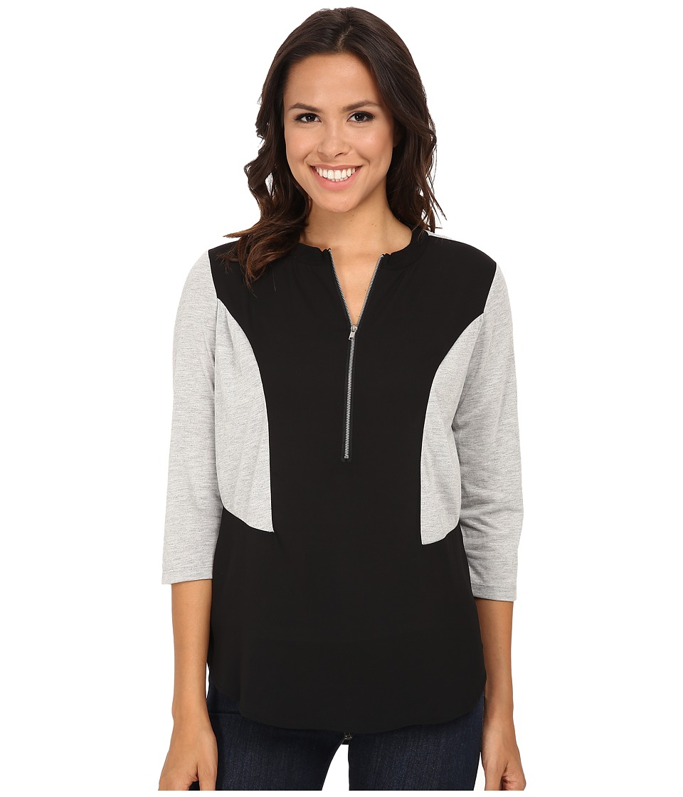KUT from the Kloth - Skyler Top (Black) Women's Long Sleeve Pullover