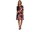 Drawstring Neck w/ Blouson Floral Dress