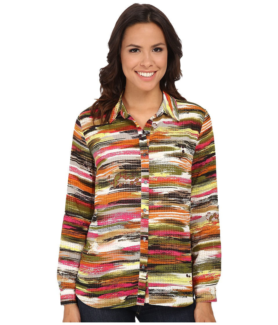KUT from the Kloth - Lexi Top (Black Rorschach) Women's Long Sleeve Button Up