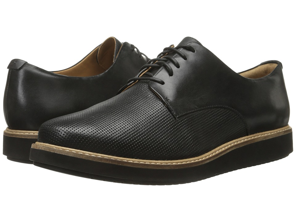 Clarks - Glick Darby (Black Leather) Women's Shoes