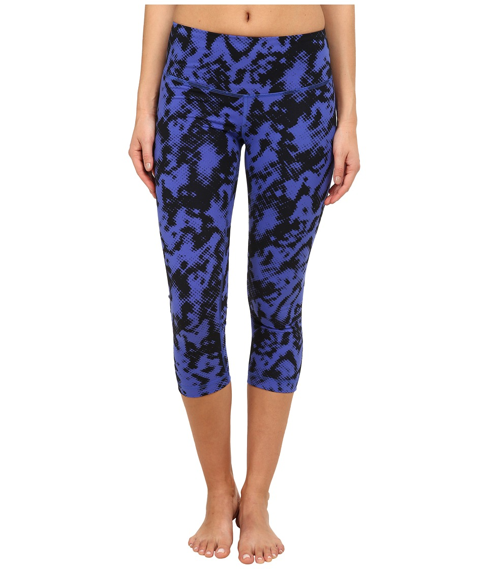 Zobha - Addison Printed Capri Pants (Muscari Blue) Women's Capri