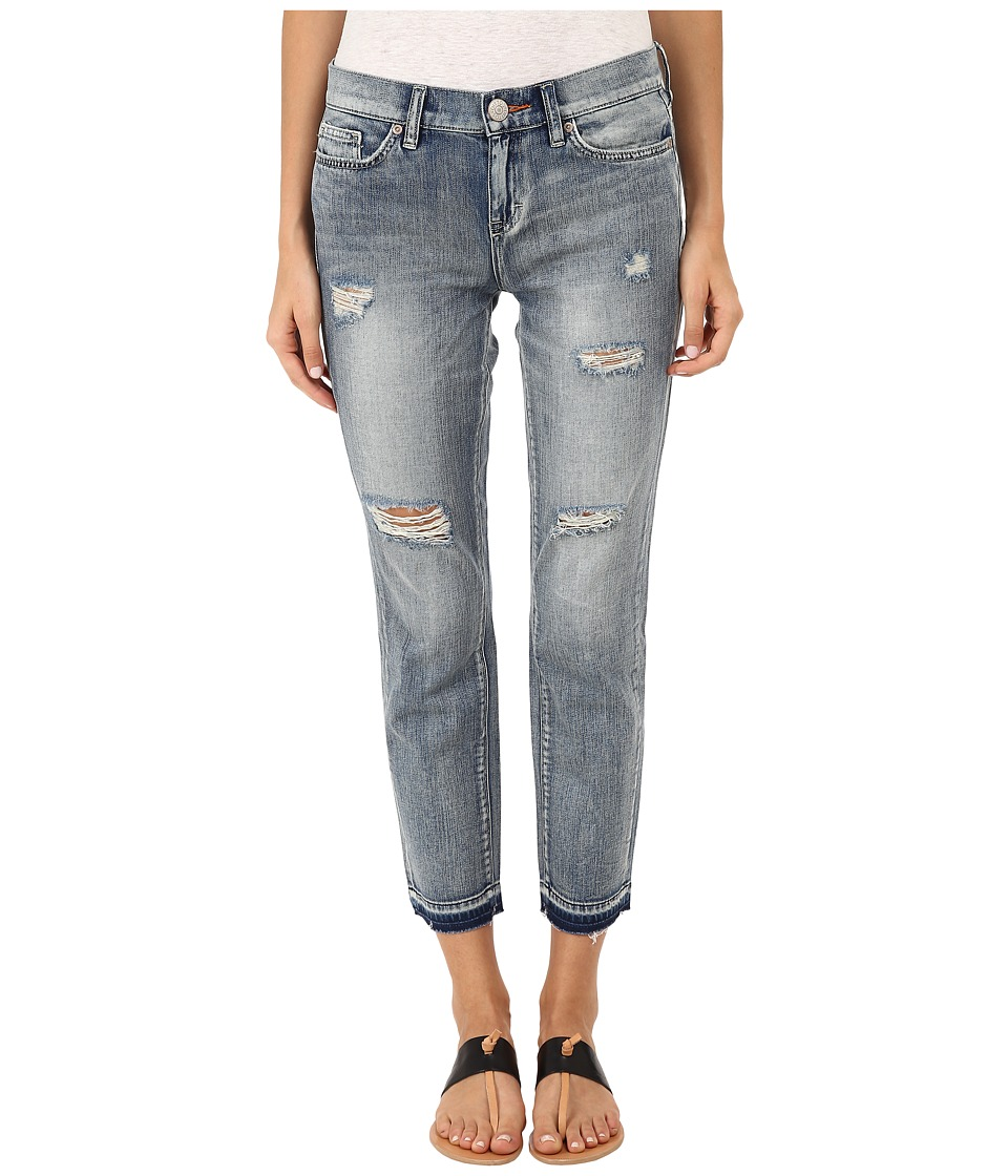 Dittos - Bethany 7/8 Fray Crop in Medium Enzyme Destructed (Medium Enzyme Destructed) Women's Jeans