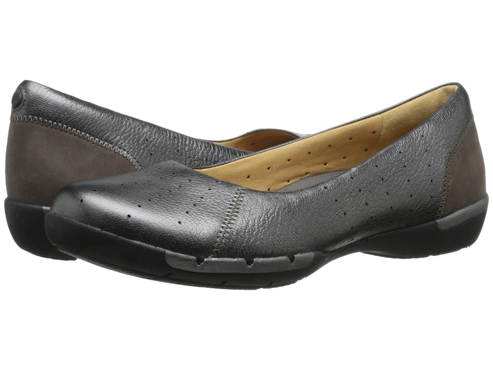 Clarks - Un Hearth (Pewter Metallic) Women's Shoes