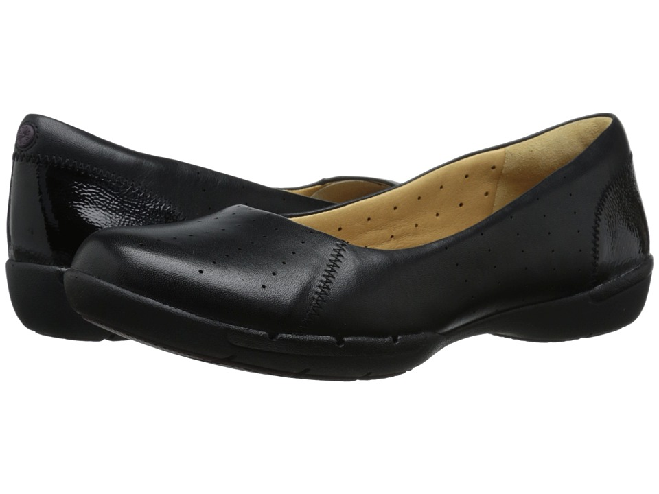 Clarks - Un Hearth (Black Leather) Women's Shoes