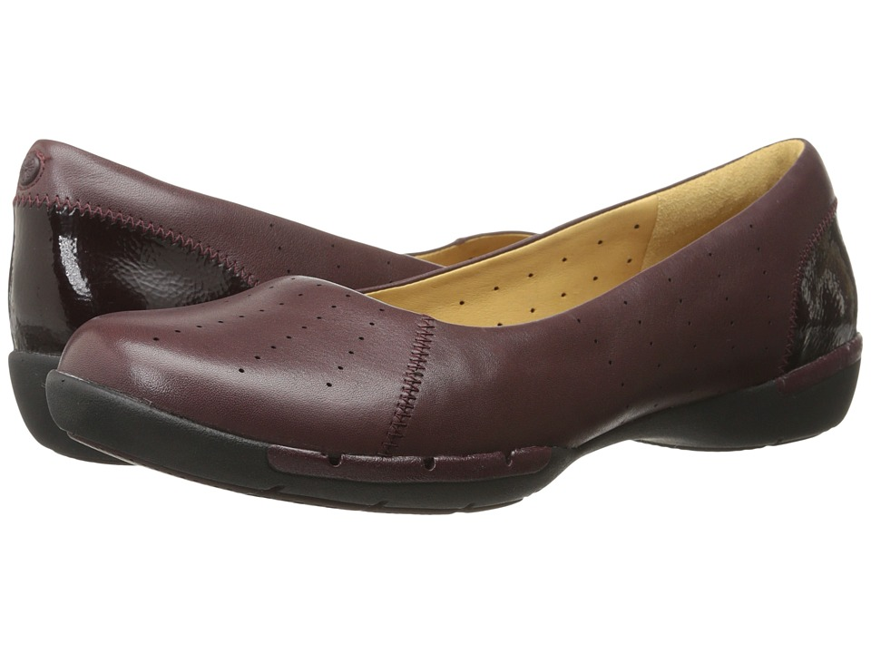 Clarks - Un Hearth (Burgundy Leather) Women's Shoes