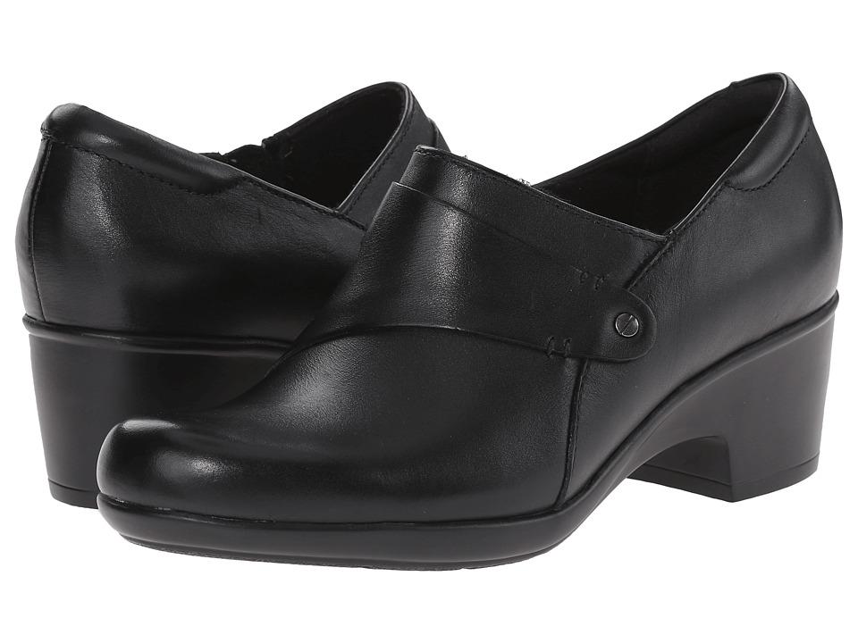 Clarks - Genette Frolic (Black Leather) Women's Shoes