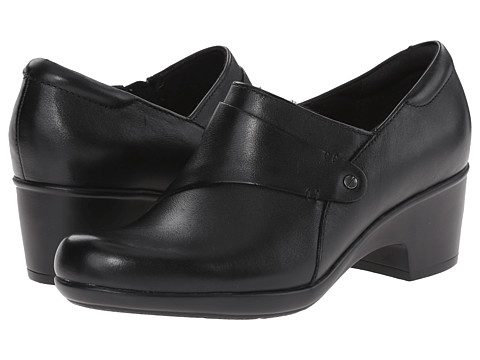 Clarks - Genette Frolic (Black Leather) Women's Shoes