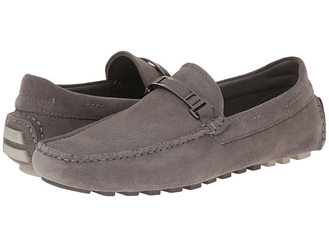BOSS Black - Drimeto (Medium Grey) Men's Slip on Shoes