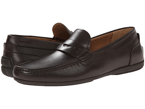 BOSS Black - Flarino (Dark Brown) Men's Slip-on Dress Shoes