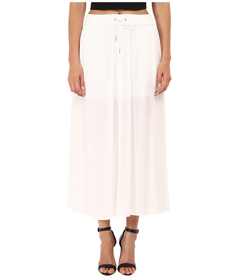 HELMUT LANG - Gaze Crepe Skirt (Optic White) Women's Skirt