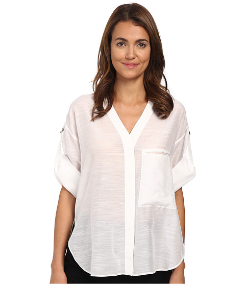HELMUT LANG - Cotton Silk Blend Shirt (Optic White) Women's Clothing