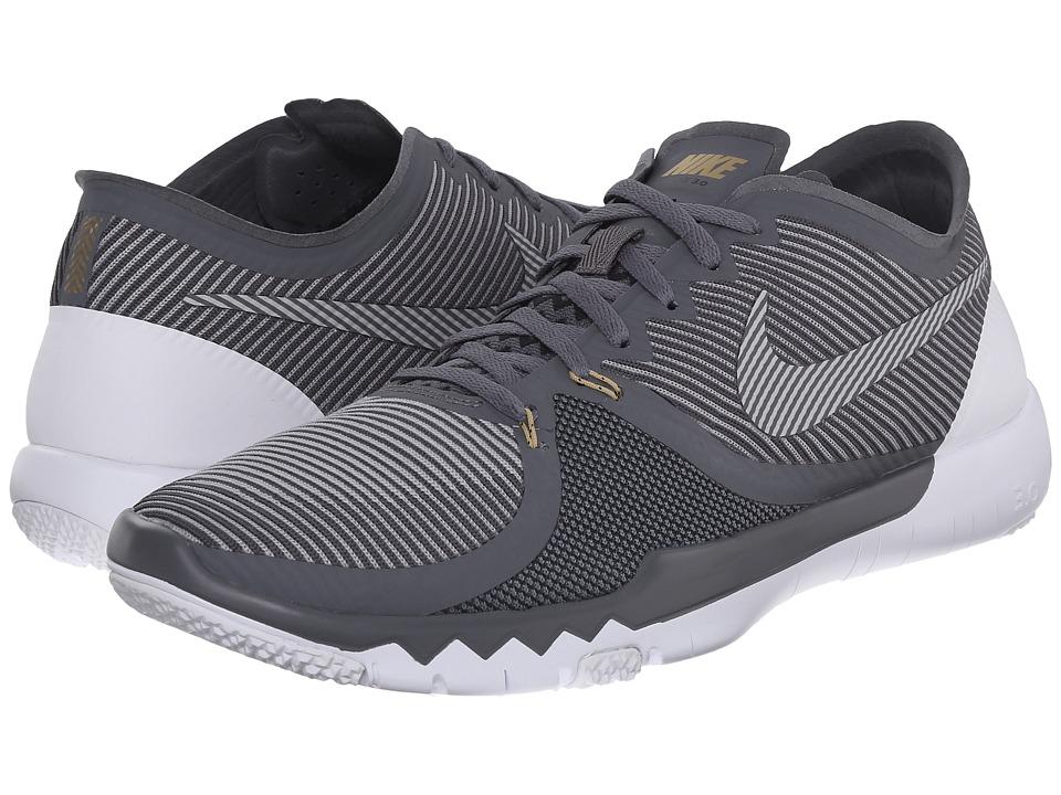 Nike - Free Trainer 3.0 V4 (Dark Grey/Wolf Grey/Metallic Dark Grey/Metallic Gold/Anthracite/) Men's Cross Training Shoes