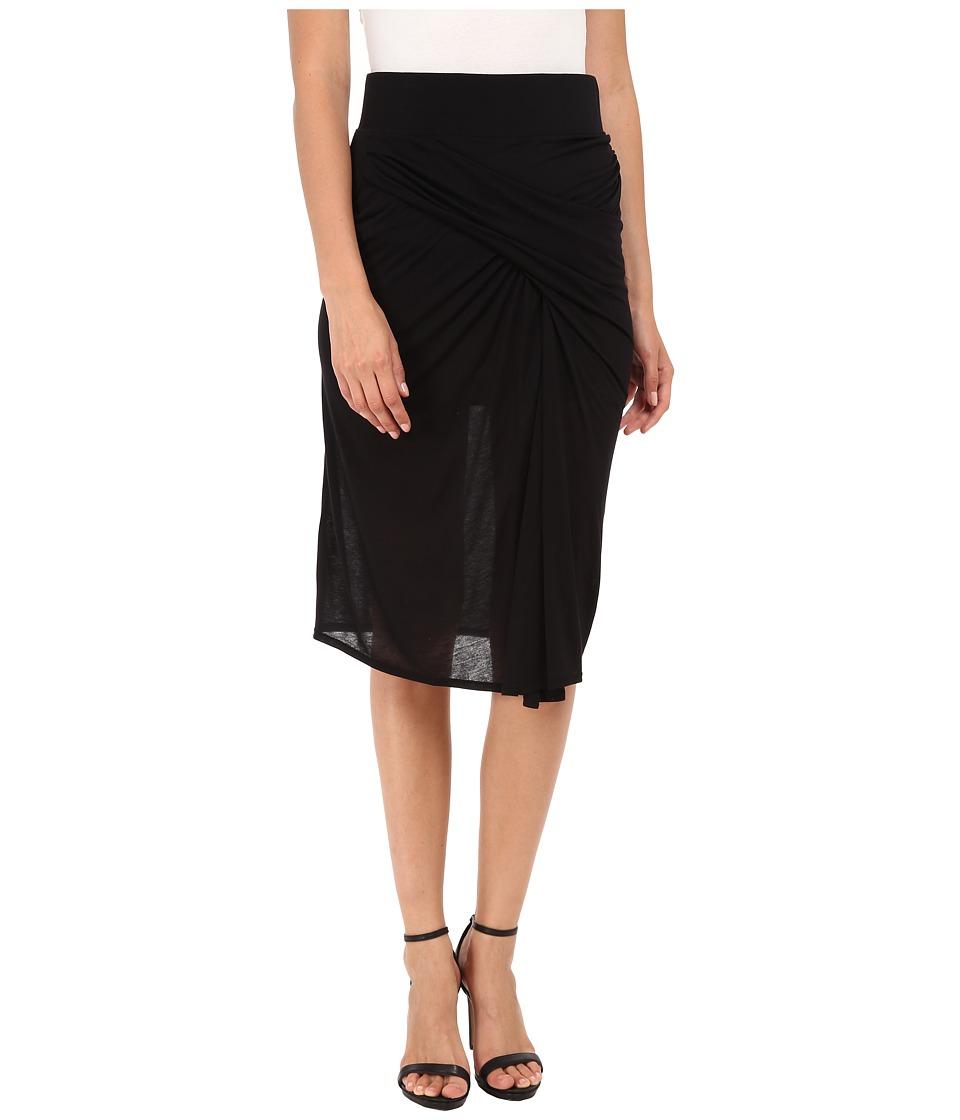 HELMUT LANG - Entity Jersey Skirt (Black) Women's Skirt