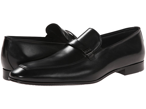 BOSS Black - Sleken (Black) Men's Slip-on Dress Shoes