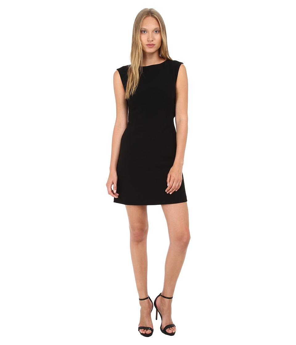 Theory Mystera Admiral Crepe Dress (Black) Women