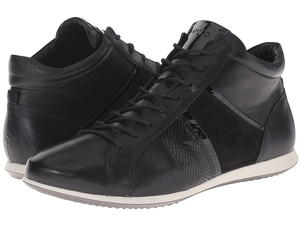 ECCO - Touch Sneaker Bootie (Black/Black) Women's Lace up casual Shoes
