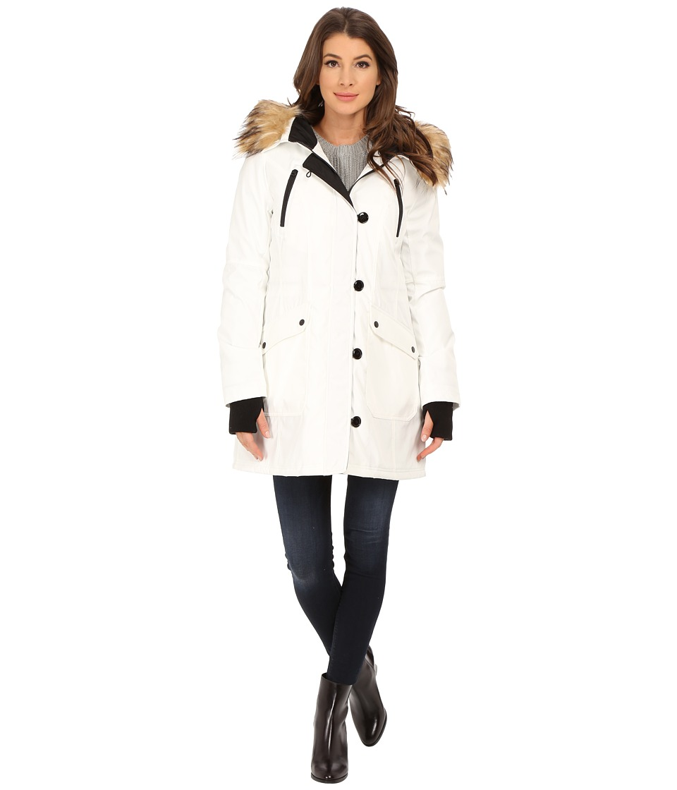 Jessica Simpson - Polybonded with Faux Fur (White) Women's Clothing