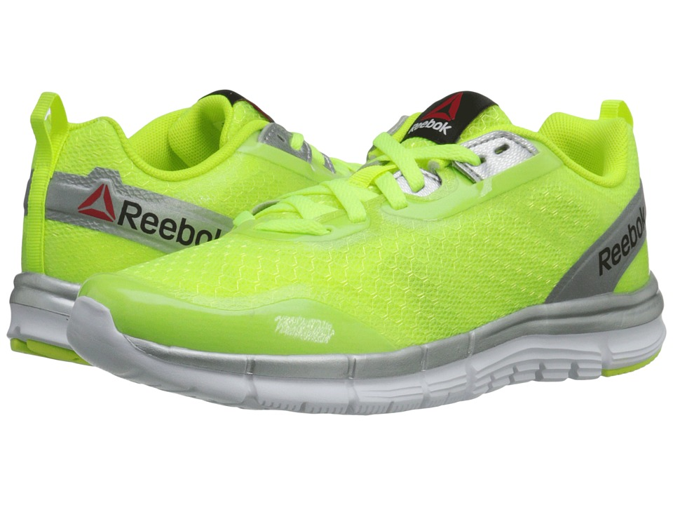 Reebok Kids - ZQuick Tempo Soul (Big Kid) (Solar Yellow/Silver Metallic/White/Black) Boys Shoes