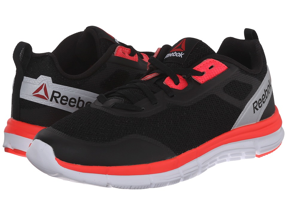 Reebok Kids - ZQuick Tempo Soul (Big Kid) (Black/White/Neon Cherry/Silver Metallic) Boys Shoes