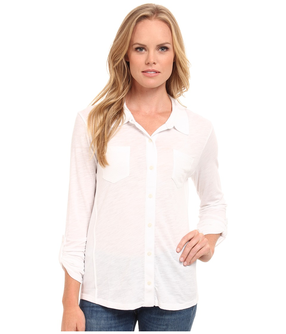 Splendid Slub Button Up Shirt (White 1) Women