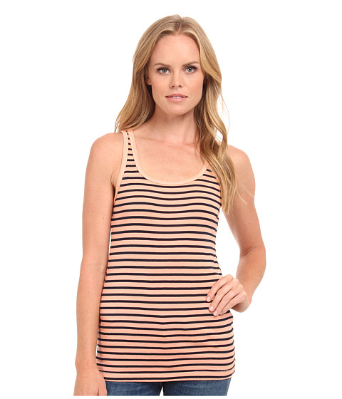Splendid - 1x1 Venice Stripe Tank Top (Light Peach) Women