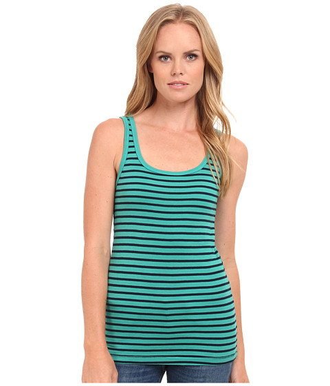 Splendid - 1x1 Venice Stripe Tank Top (Tile Blue) Women's Sleeveless