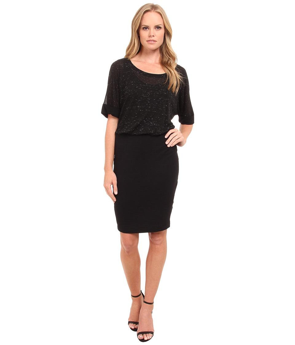 Splendid - Two Layer Dress (Black) Women's Dress