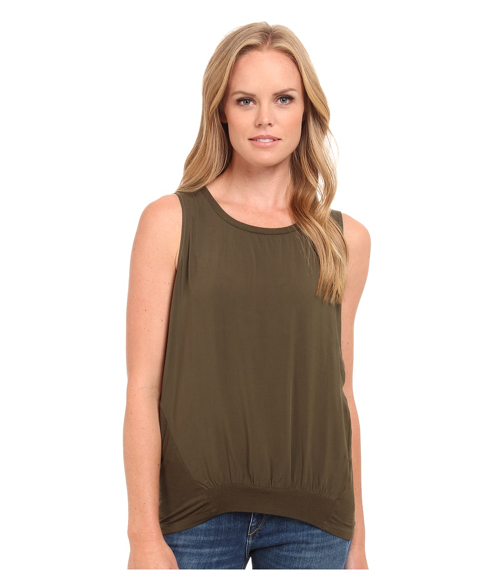 Splendid - Mixed Media Tank Top (Olive) Women