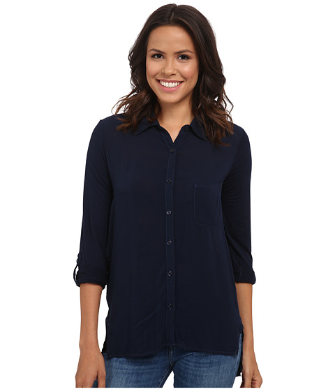 Splendid - Rayon Button-Up Shirt (Navy) Women