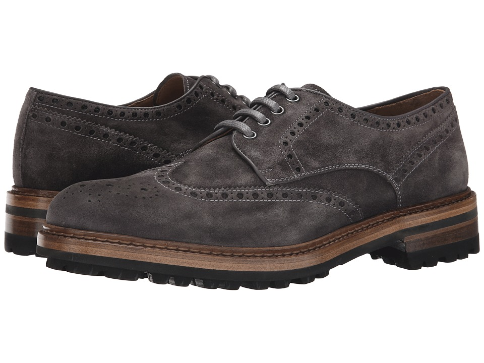 Magnanni - Berto (Grey) Men's Lace Up Wing Tip Shoes