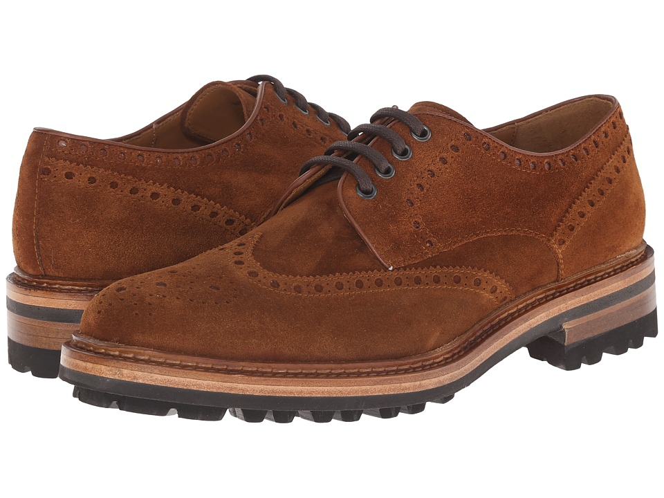 Magnanni - Berto (Cognac) Men's Lace Up Wing Tip Shoes