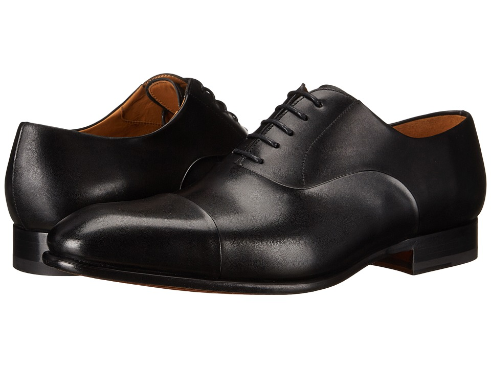 Magnanni - Lena (Black) Men's Lace Up Cap Toe Shoes