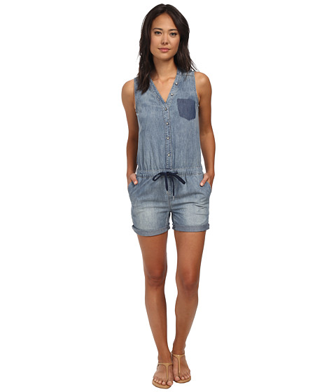 DKNY Jeans - Denim Romper in Medium Indigo (Medium Indigo) Women