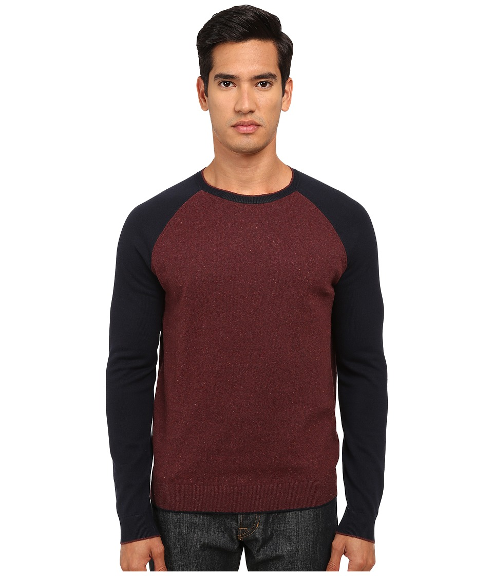 Vince - Flecked Raglan Sweater (Dark Cranberry/Coastal) Men